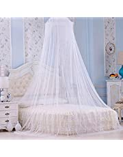 Mosquito Net for Bed Canopy, Large Tent, Dome Mosquito Mesh Net Easy Installation Hanging Bed Canopy Netting for Single to King Size Beds Hammocks Cribs White