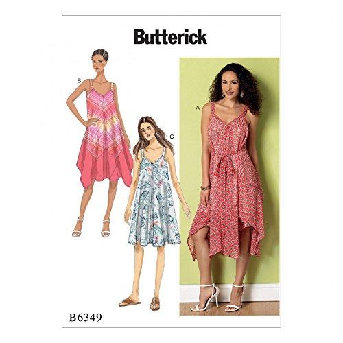 Pattern Handkerchief Dress - Butterick Ladies Easy Sewing Pattern 6349 Handkerchief & Straight Hem Dresses
