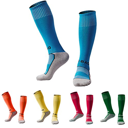 - Soccer Socks for Little Boys Girls 5 Pack (Blue/Orange/Yellow/Rose Red/Dark Green) XS