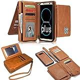 Samsung [S8 Plus] Removable Wallet Case, LefRight Vintage Leather Magnetic Flip 12 Credit Card...
