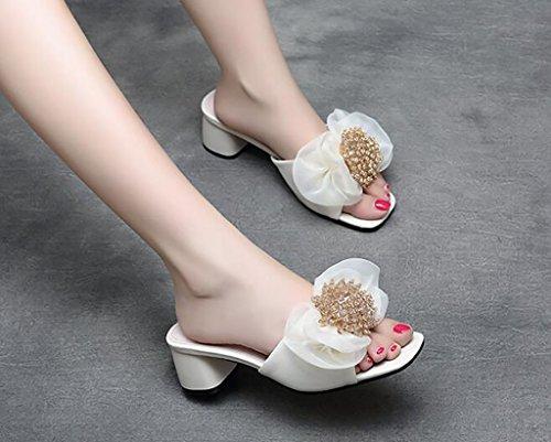 Couleur Sandales Sandales Confort Sandales Mode Pantoufles Chaussons FAFZ de Sandales B Plates Sandales fraîches d'arc 38 Sandales B nbsp; Taille qZZwdB