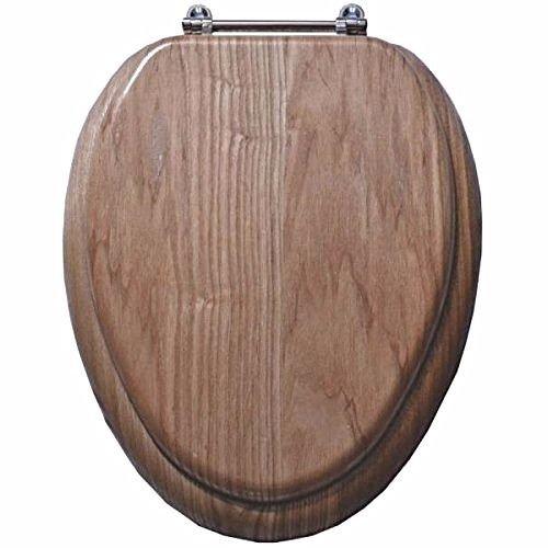 - MintCraft T-19WO-3L Natural Oak Finish 19 Inch Elongated Toilet Seat