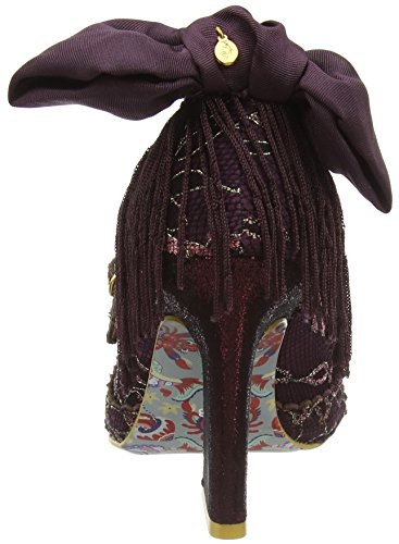 Irregular Choice Pick A Lilly - Tacones Mujer Morado - Purple (Bordo)
