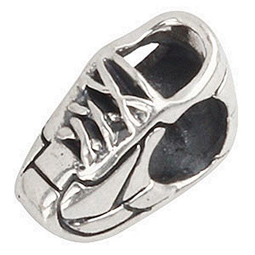 (Gym Shoes Charm 925 Sterling Silver Beads Sport Athletic Shoes beads Fit for DIY Charms Bracelets)