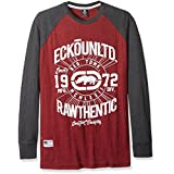 Ecko Unlimited Men's Tall Elevation Long Sleeve Raglan, Wine, 4X/Big