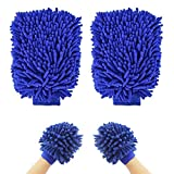 SunTrade Car Wash Microfiber Mitt,for House Cleaning, Car Washing and Home Dusting,2 Pack