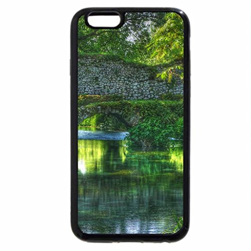iPhone 6S / iPhone 6 Case (Black) Giardino di Ninfa-antico ponte