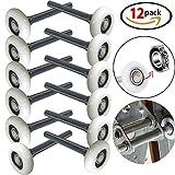 Durable 2'' Nylon Garage Door Rollers 6200ZZ 4'' Stem Hardware Accessories Set of 12