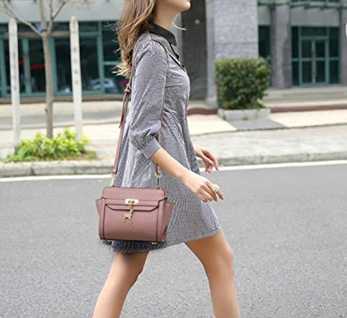 Black Coreana Hombro Personalidad Versión Ciervos Haxibkena Bag Pequeña Purple Alas color Bolsa Simples Mujer Messenger La De Salvaje Los gTOfTq8