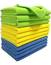 Polyte Microfibre Cleaning Cloth 30x40 cm, Blue, Green, Yellow