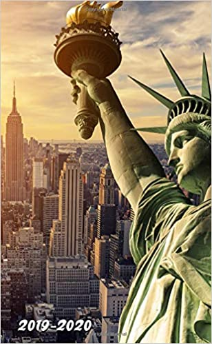 Liberty Calendar 2020 2019 2020: Nifty Statue of Liberty, New York, US Two Year Monthly