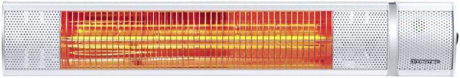 TROTEC Calefactor por radiación infrarrojo IR 2050 | Radiador Infrarrojo | para Exteriores | Radiadores de terraza | 3 Niveles de Calor | 2.000 W | IP65 Clase de protección | Mando a Distancia