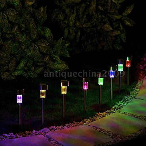 Plasma Neon Clock (8PCS Color Changing Solar Light Lawn Lamp Light with Stake Outdoor Landscape Hot)