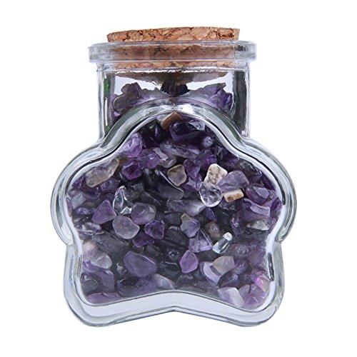 TGS Gems Nature Amethyst Gemstone Bottle Healing
