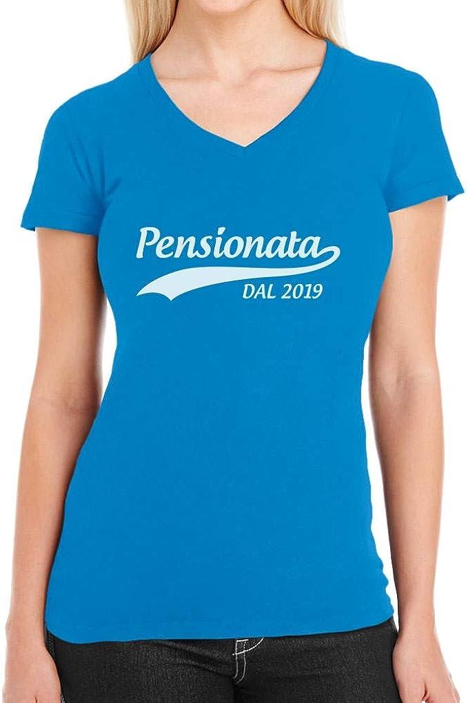 Regalo Annuncio Pensione Maglia da Donna a Maniche Lunghe Shirtgeil Pensionata dal 2020