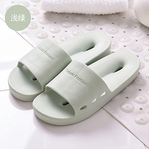 acqua home fankou home pantofole chiaro di di solido fuoriesce e uomini Coppie verde doccia pantofole donne estate 36 bagno cool colore di 35 dell'anti interior slittamento estate pTqTIW1r
