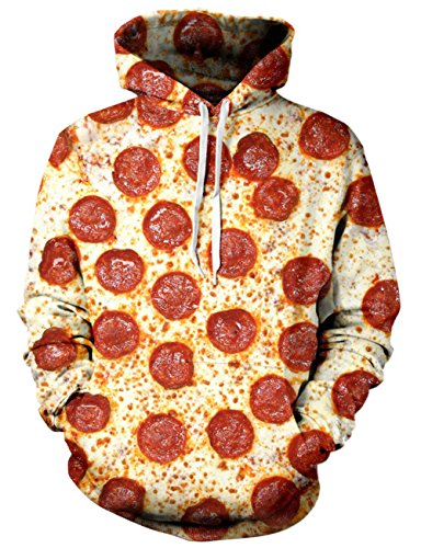 Goodstoworld 90s Unisex Pizza Hoodie 3D Digital Graphic Print Cool Awesome Drawstring Pocket Pullover Hoodies Sweater for Women Men]()