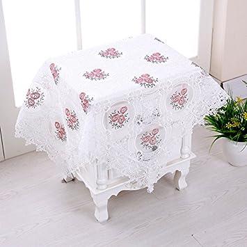 HL-hilado de vidrio PYL Mantel bordado Mantel Mesilla Cubierta Multi Toalla Mantel Circular F 95x95 cm.: Amazon.es: Hogar