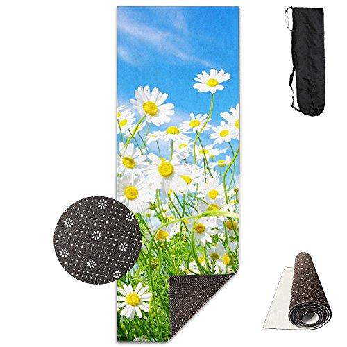 Spring Daisy Flower Sea Comfort Unisex Yoga Mat For Yoga,Exercise,Pilates,Sports & Outdoors