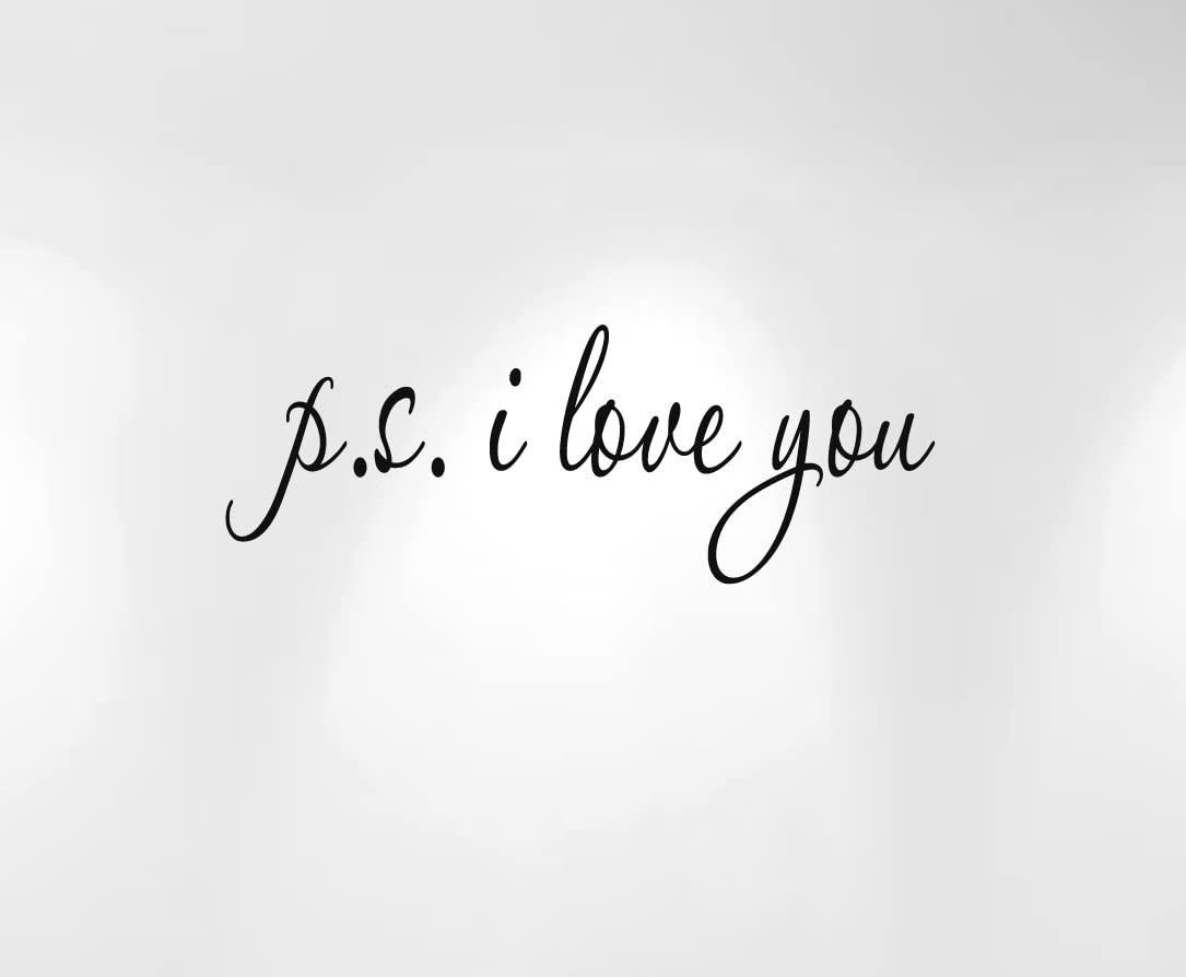 Innovative Stencils Ps I Love You Vinyl Wall Decal Quote #1166 (28