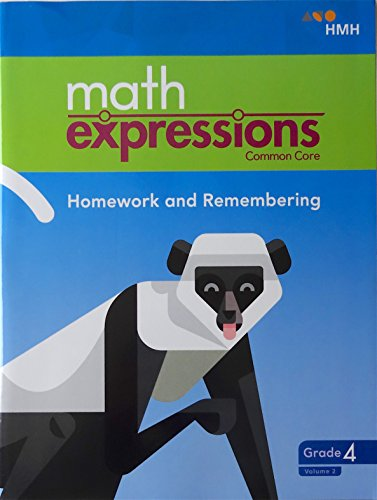 math expressions 2018 Homework and Remembering Grade 4 Volume 2
