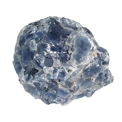 1 (ONE) Large Blue Calcite Chunk - 1/2 Pound to 1 Pound Chunks - Large Blue Calcite Stone - Gorgeous Display Piece Rock Paradise Exclusive COA (Medium Green Calcite compare prices)