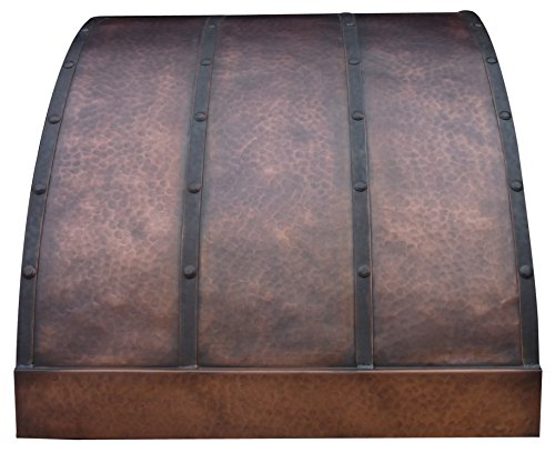 Copper Best H4 302127L Copper Range Hood for Wall Mount with Liner 30 inch - Island Hood Liner