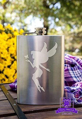 【タイムセール!】 Fairy withバタフライ8オンスステンレス鋼フラスコ B0176ZFHC2 Fairy B0176ZFHC2, テレビ壁掛け金具エースオブパーツ:1a55ad33 --- pardeshibandhu.com