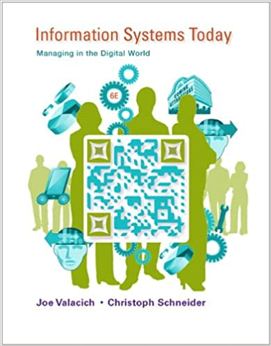 Information systems today managing in the digital world 6th information systems today managing in the digital world 6th edition joseph s valacich christoph schneider 9780132971218 amazon books fandeluxe Choice Image