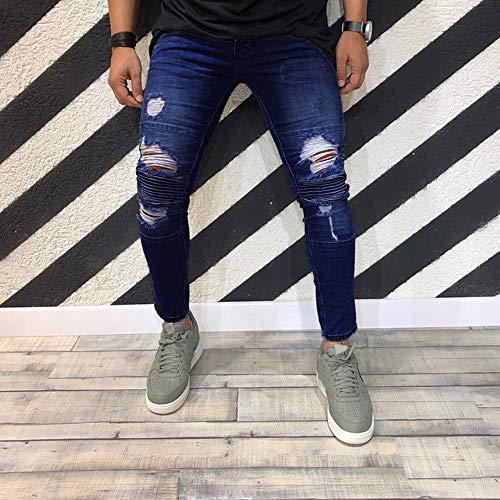 Homme ✿mode Stretch Pantalon Denim En Slim Alikeey Extensible Pour gfaPx