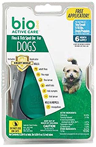 Bio Spot Active Care Flea & Tick Spot On With Applicator for Small Dogs (5-14 lbs.) - 9 Applicators