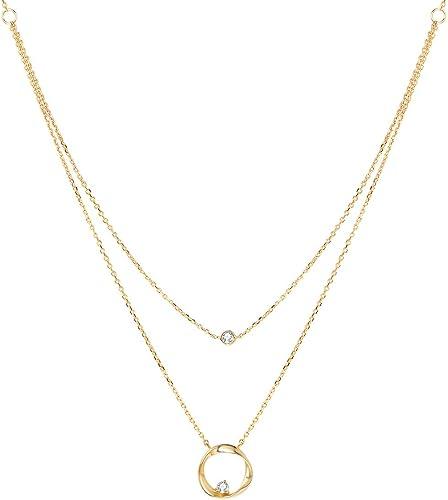 Diseño de moda de joyas de oro y plata Grande Redondo Disco Cadena Gargantilla Collar