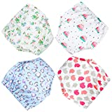 MooMoo Baby 4 Pack Potty Training Pants for Baby Boys and Toddler Girls- 4T-XL
