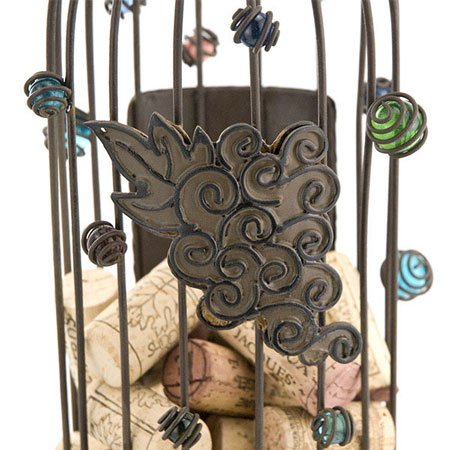 Epic Products Cork Cage Wine Bottle, 14.25-Inch