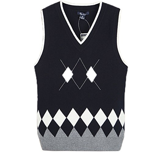 Suéter Mujer sin mangas 100% Algodón Sweat suéter Mujer Con Estampado Bonito Azul Marino
