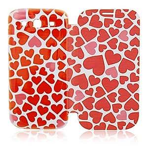 WQQ Teléfono Móvil Samsung - Carcasas de Cuerpo Completo - Puntos Redondos/Dibujos Animados - para Samsung S3 I9300 ( Rosa , Textil/Cuero PU )