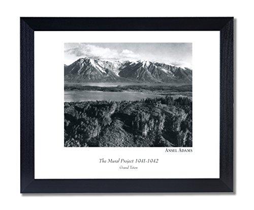 (Solid Wood Black Framed Ansel Adams Teton B/W Photo Pictures Art Print)