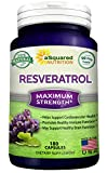 now extra strength ubiquinol - 100% Pure Resveratrol - 1000mg Per Serving Max Strength (180 Capsules) Antioxidant Supplement Extract, Natural Trans-Resveratrol Pills for Heart Health & Weight Loss, Trans Resveratrol for Anti-Aging