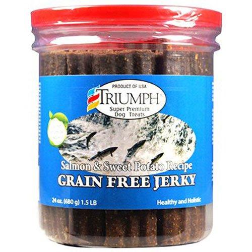durable service Truimph Super Premium Dog treats 00851 Dog Salmon & Sweet Potato Jerky, 24-Ounce 1.5 pounds