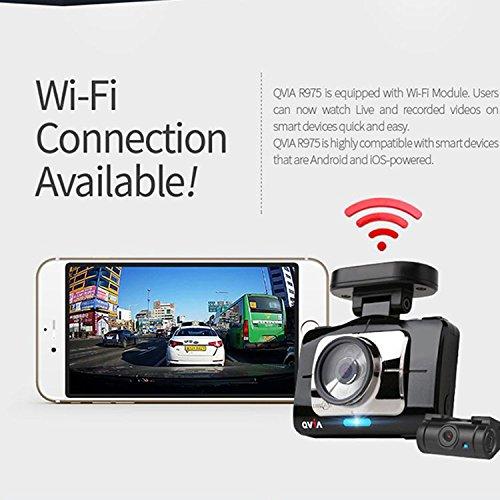 Lukas Qvia r975 WD 2 CH FHDドライブレコーダー車black-box Wi - Fi Dashcam ( 8 + 8 = 16gb ) B01IQW9LMG