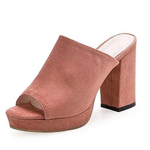 MRxcff Sandals Summer Sexy High Heels Platform Shoes Woman Slippers Slip On Pumps Casual Women Shoes XWZ3250 pink - For Code Ireland Discount Debenhams