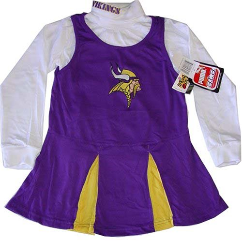 [Minnesota Vikings NFL Long Sleeve Cheerleader Halloween Costume 16 XL] (Halloween Costumes Of Cheerleaders)