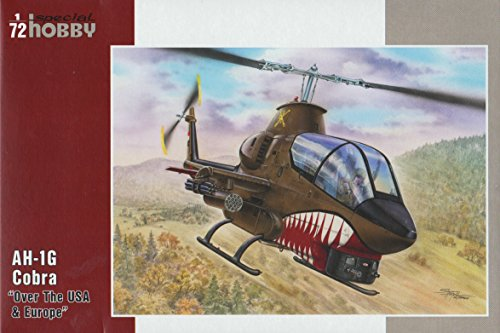 Special Hobby AH1G Cobra Helicopter Plastic Model Kit Over USA and Europe (1/72 Scale) (Model Plastic Helicopter)