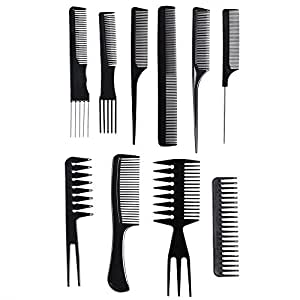 hair styling tool sets 10 pcs professional styling comb set salon 6651