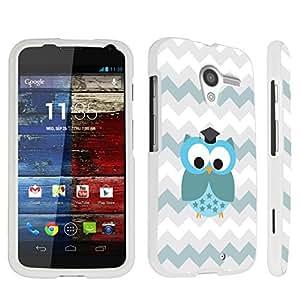 DuroCase ? Motorola Moto X (2013 Released, 1st Gen) Hard Case White - (Cute Owl)