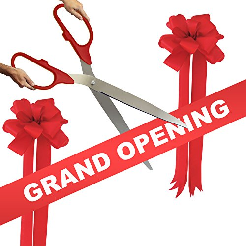 amazon com grand opening kit 36 red silver ceremonial ribbon