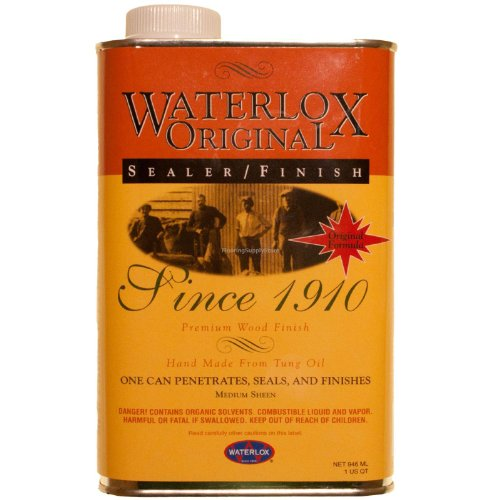 Piece Finish 5 Natural Tile (Title: Waterlox Original Sealer/Finish for Wood, Brick, Stone, Tile & More - 1 Quart (TB 5284))