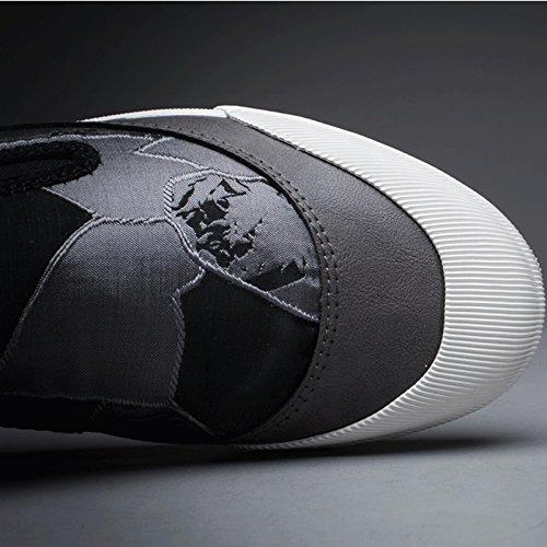 LIUXUEPING Gray Marea Un Nuovo di Scarpe Scarpe Piede Versione Maschio Tela di Estate Traspirante Stoffa Scarpe Coreana Scarpe Pigre da da Scarpe Uomo FrCwqpF