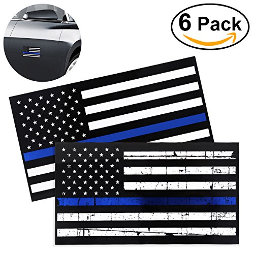 pbpbox-american-flag-decal-sticker-69-x-37-inch-thin-blue-line-decal-for-cars-windows-pack-of-6