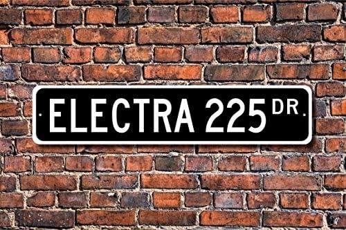Buick Electra 225 Plaque de Rue personnalis/ée Buick Electra 225 10,2 x 45,7 cm Fhdang Decor Electra 225 Cadeau propri/étaire Buick Lover Plaque en m/étal Electra 225 Buick Electra 225